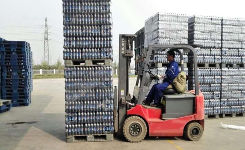 Plastic pallets for Pepsi