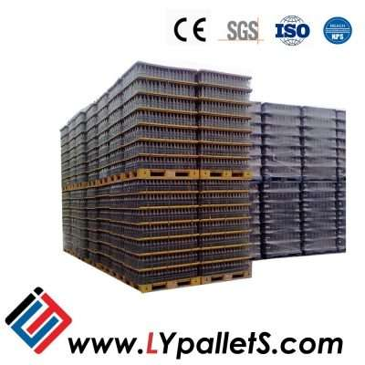 Special plastic pallets for glass bottles