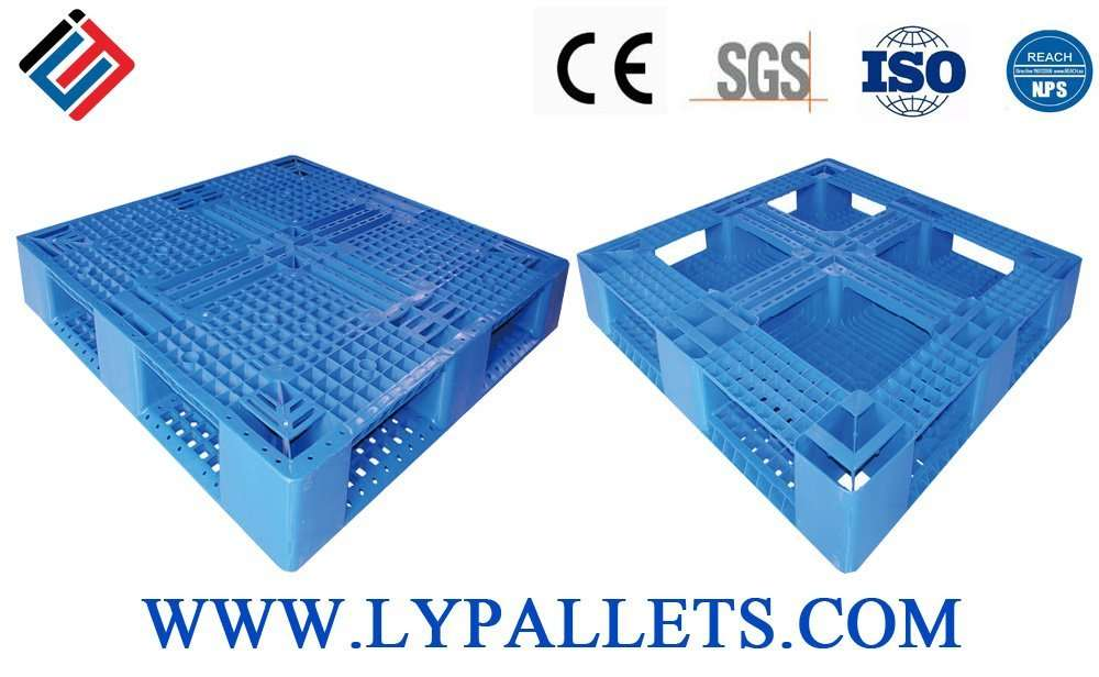 Blue color perimeter base japan plastic pallets