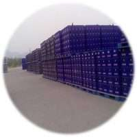 plastic pallets for beers and cola