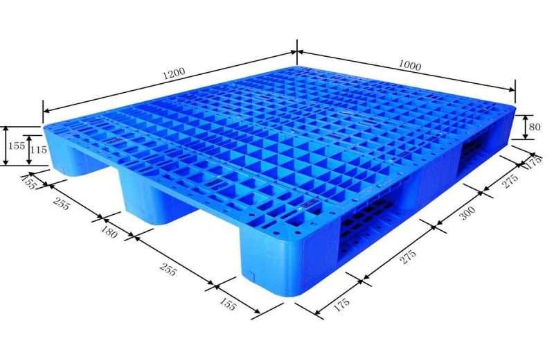 Grid surface plastic pallets 1200x1000 mm