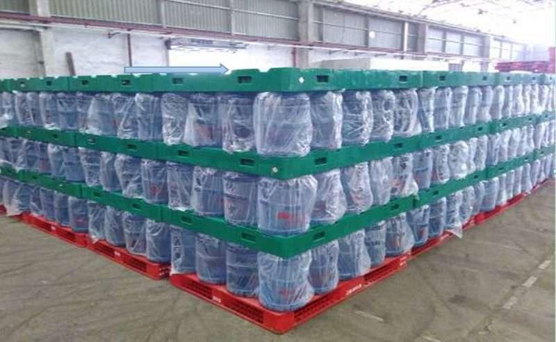 5 gallons barreled water barrels rack pads