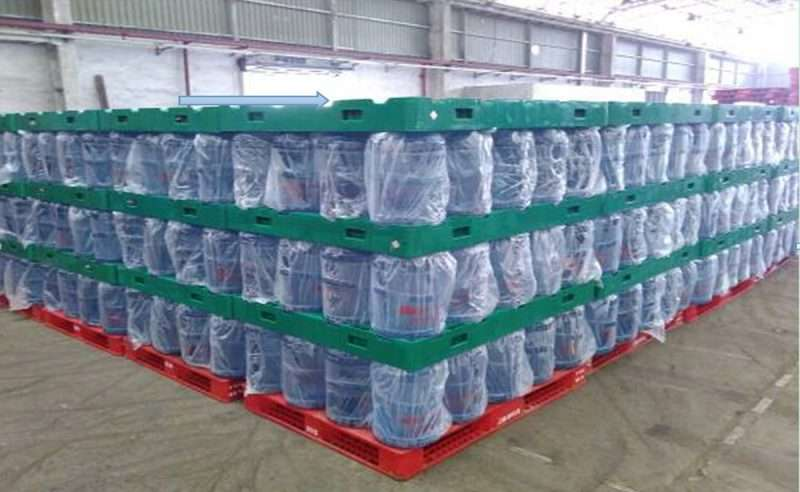 5 gallons bottled water storage and transfer pads