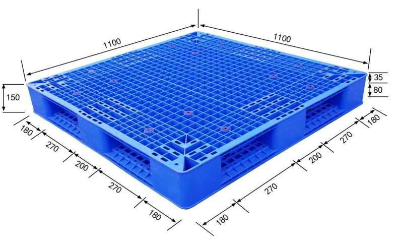 Double deck reversible Plastic Pallets 1100x1100