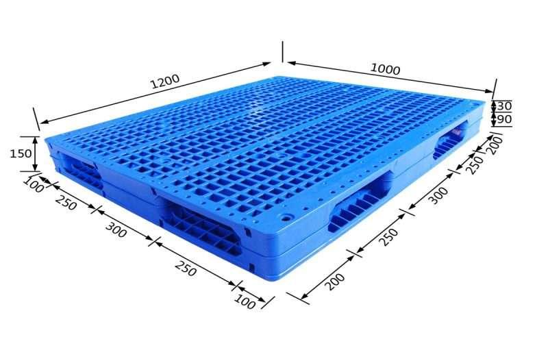Reversible mesh surface welding plastic pallets 1200x1000