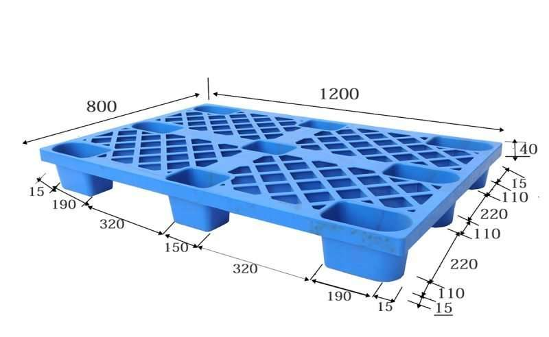 Euro nestable light duty plastic pallets 80x120cm
