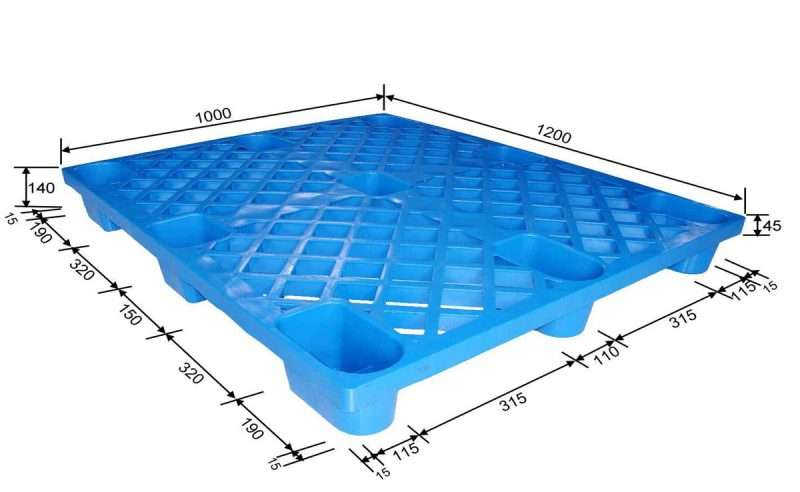 Nestable shipping plastic pallets 1200x1000 mm
