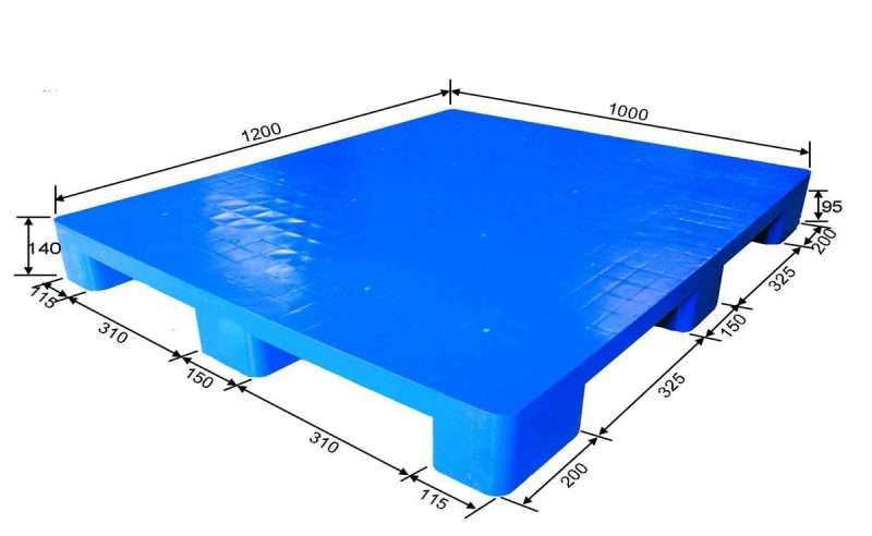 Medium duty flat top plastic pallets size