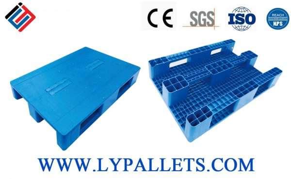 Flat top euro plastic pallets 80x120 cm