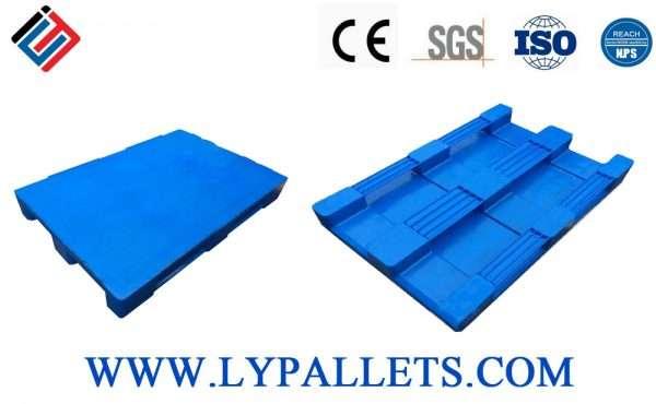Hygienic deign smooth plastic pallets 80x120 cm