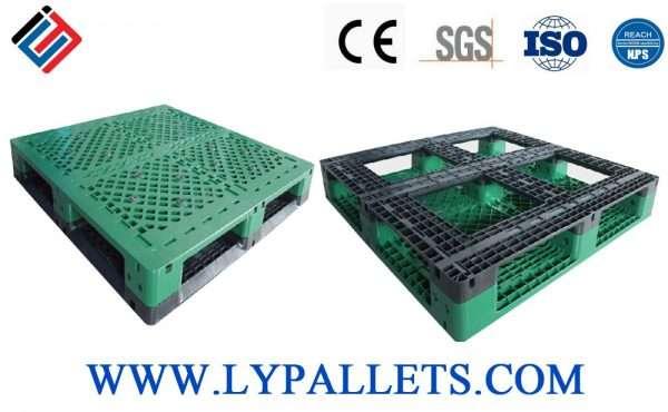 Perimeter base plastic pallets