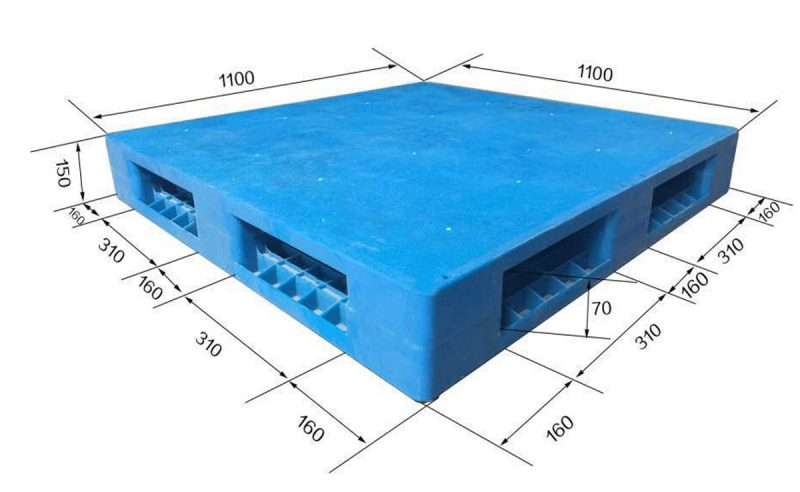 flat smooth sides reversible plastic pallets 1100x1100