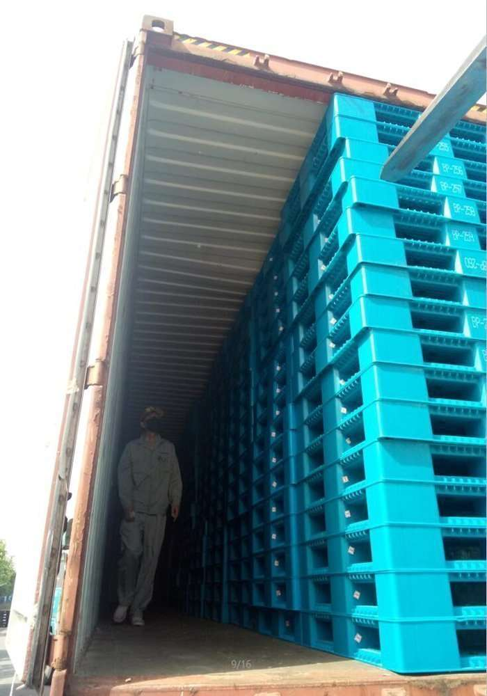 Reversible plastic pallets for loading