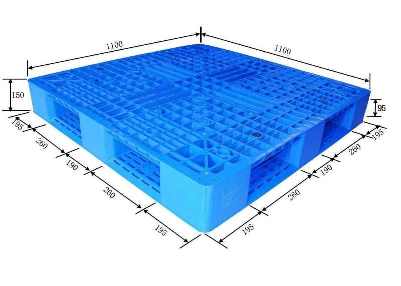 Full base plastic pallets 1100x1100