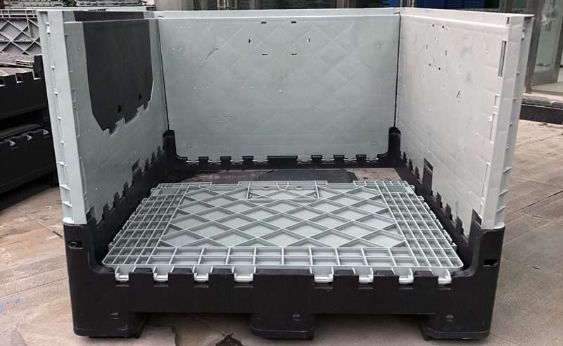collapsible plastic pallets containers