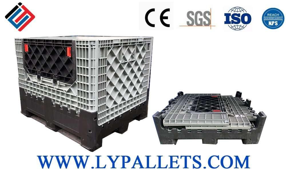 collapsible plastic pallets boxes