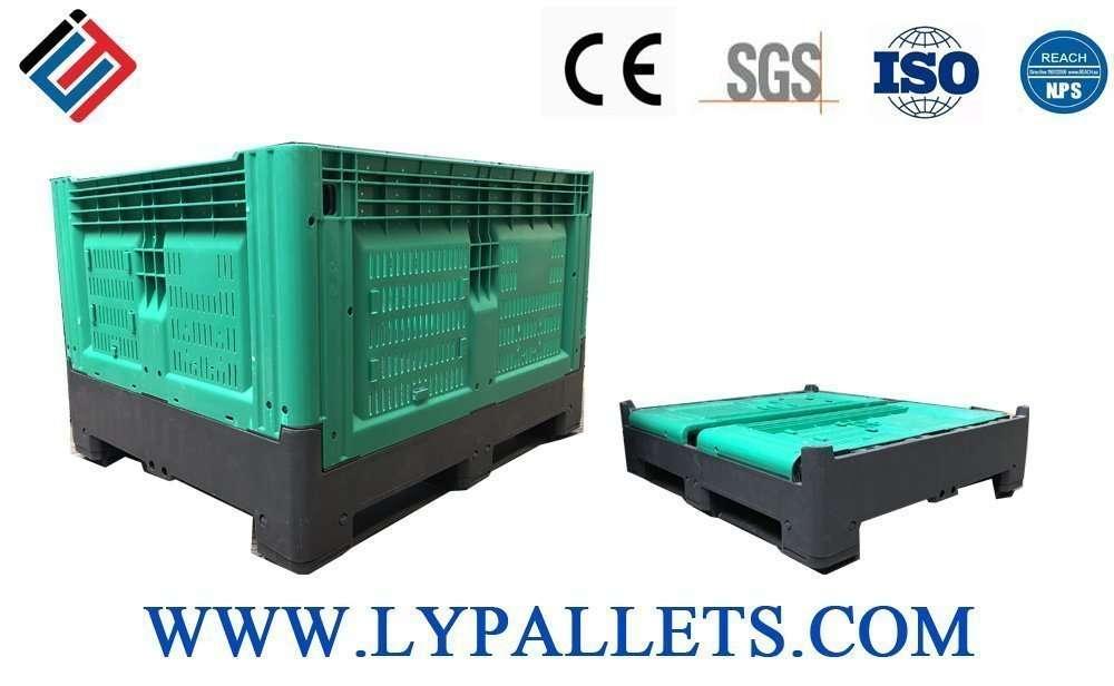 Plastic fold able pallets boxes
