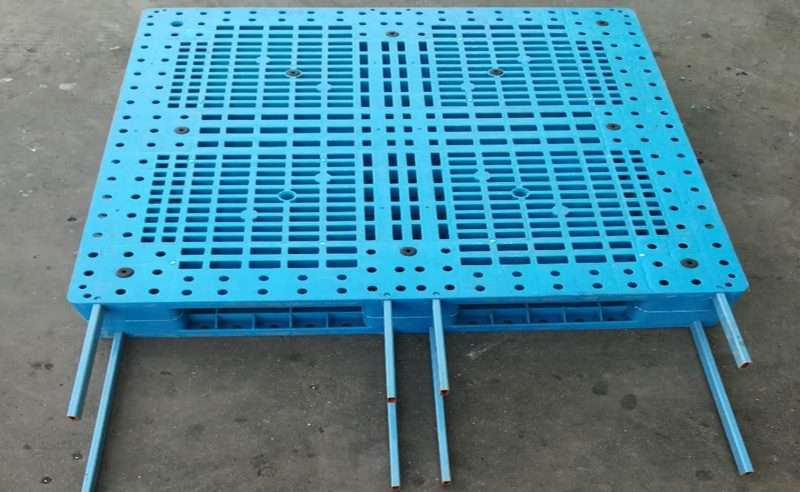 8 steel bars reinforced design plastic pallets