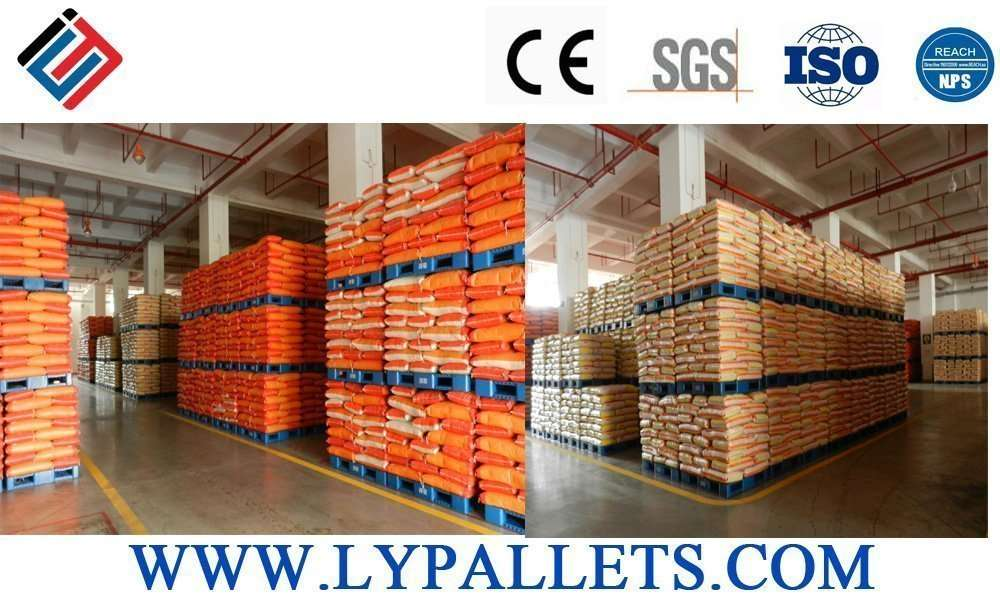 Plastic pallets for grain