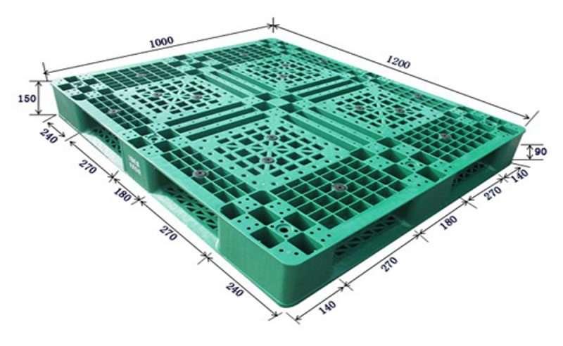 1200x1000 durable plastic pallets