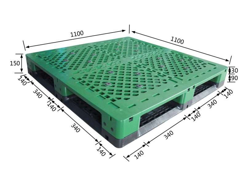 Steel metal reinforced plastic pallets for beverage