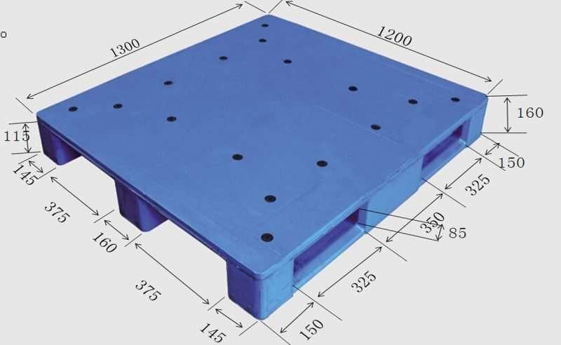 Durable plastic pallets hygienic 120x130cm