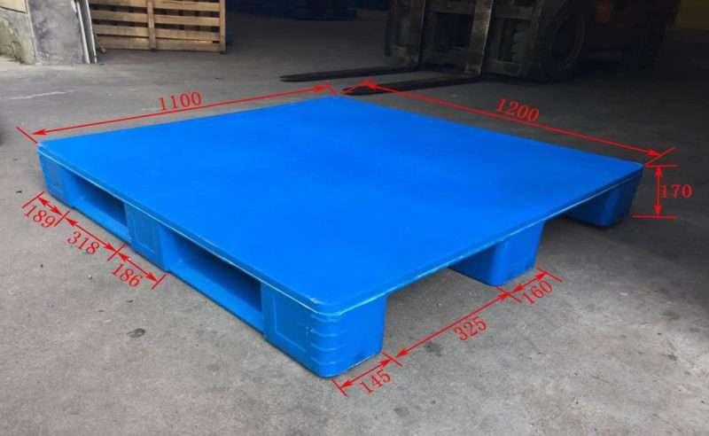 Hygienic rackable PLASTIC PALLETS 110x120