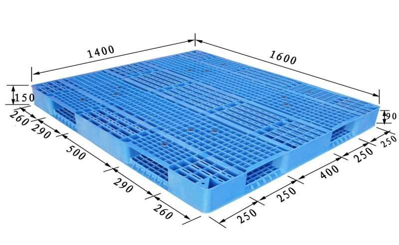 PLASTIC PALLETS 1,6x1,4 mm
