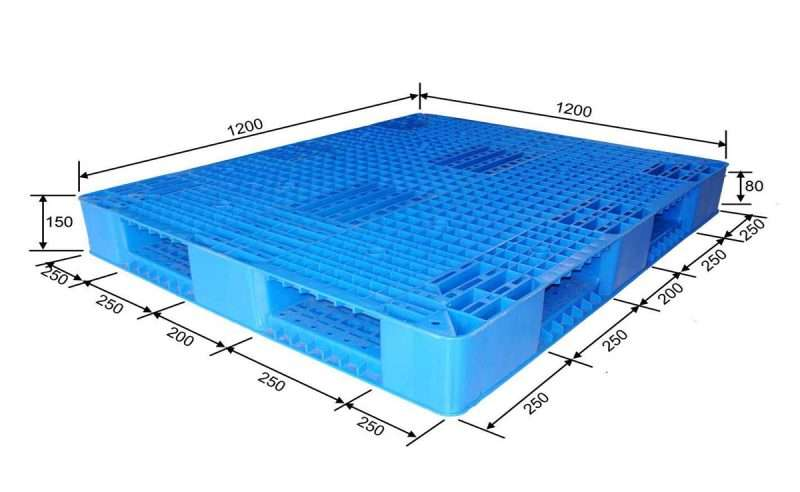 PLASTIC PALLETS reversible 1200x1200