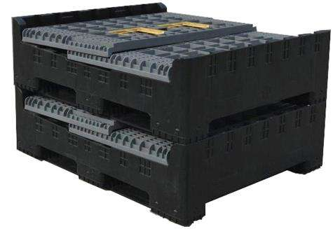 folding Plastic pallet boxes storage
