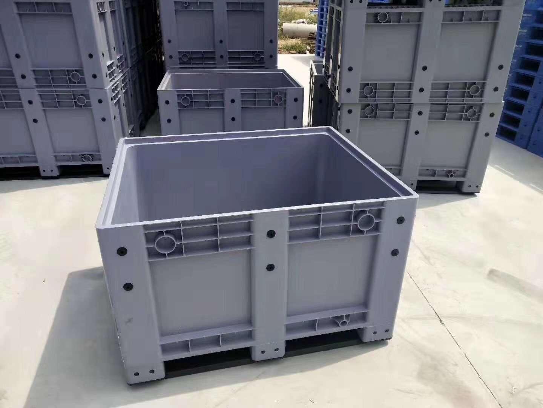 plastic pallet boxes gray color